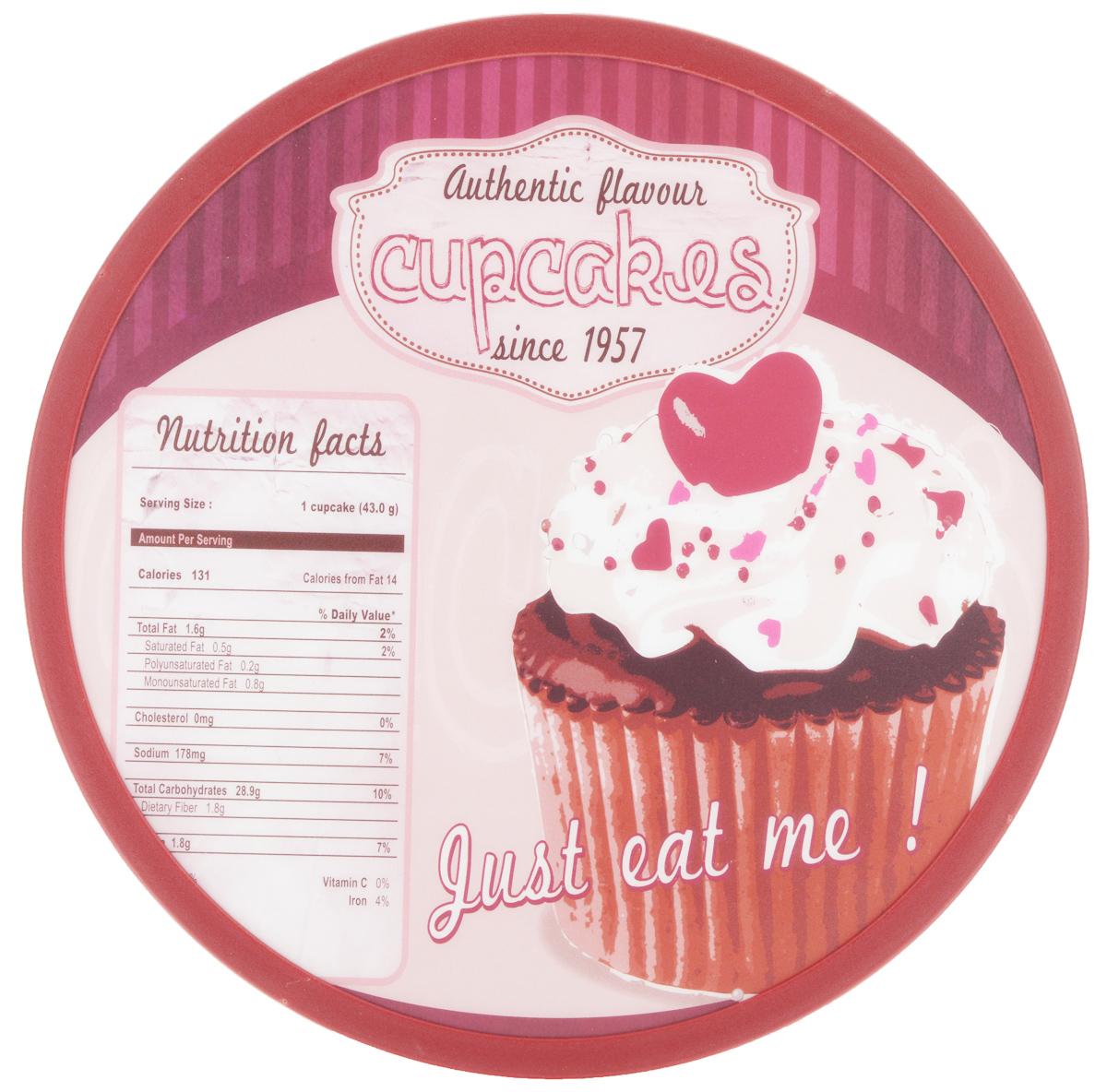Доска разделочная Mayer & Boch Cupcakes, вращающаяся, диаметр 30 см25595Вращающаяся разделочная доска Mayer & Boch Cupcakes, выполненная из высококачественного пластика и дерева, станет незаменимым аксессуаром на вашей кухне. Доска декорирована красочными рисунками и надписями. Антибактериальное покрытие защищает от плесени, грибков и неприятных запахов. Изделие предназначено для измельчения продуктов. Доска вращается на 360°, что делает ее еще и отличным аксессуаром для сервировки пищи. Такая доска прекрасно впишется в интерьер любой кухни и прослужит вам долгие годы. Диаметр доски: 30 см. Диаметр основания: 18 см. Высота: 4 см.