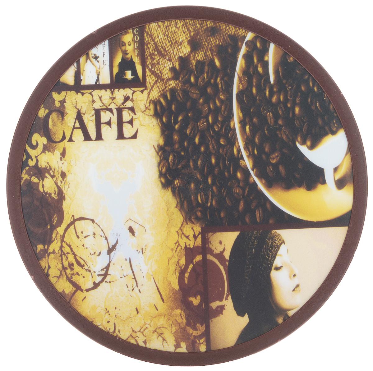 Доска разделочная Mayer & Boch, вращающаяся, диаметр 30 см. 2559925599Вращающаяся разделочная доска Mayer & Boch, выполненная из высококачественного пластика и дерева, станет незаменимым аксессуаром на вашей кухне. Доска декорирована красочными рисунками и надписями. Антибактериальное покрытие защищает от плесени, грибков и неприятных запахов. Изделие предназначено для измельчения продуктов. Доска вращается на 360°, что делает ее еще и отличным аксессуаром для сервировки пищи. Такая доска прекрасно впишется в интерьер любой кухни и прослужит вам долгие годы. Диаметр доски: 30 см. Диаметр основания: 18 см. Высота: 4 см.