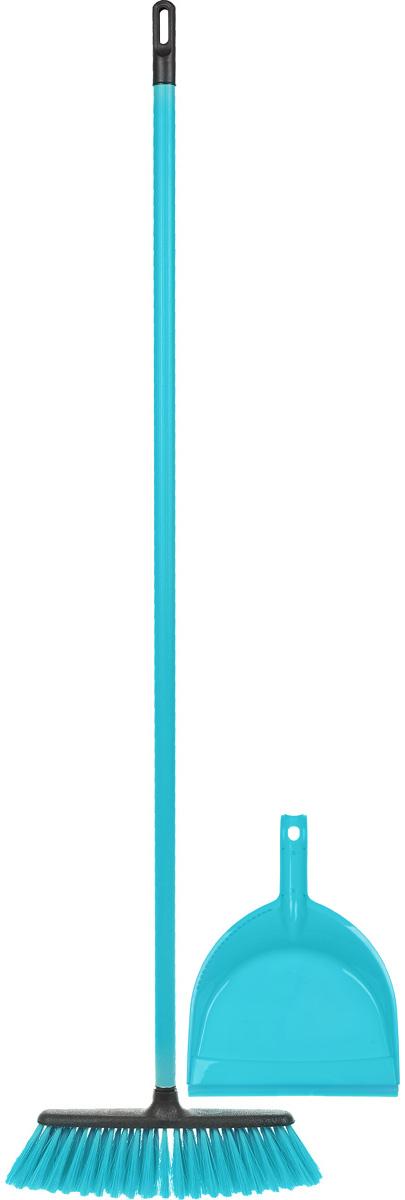 Набор для уборки Centi Tandem, цвет: голубой, черный, 2 предмета8216_голубой/черныйНабор Centi Tandem состоит из совка и щетки- метелки, изготовленных из высококачественного пластика и сложных полимеров. Вместительный совок удерживает собранный мусор и позволяет эффективно и быстро совершать уборку в любом помещении. Сглаженный край совка обеспечивает наиболее плотное прилегание к полу. Щетка-метелка имеет удобную форму, позволяющую вымести мусор даже из труднодоступных мест. Все предметы набора оснащены ручками с отверстиями для подвешивания. С набором Centi Tandem уборка станет легче и приятнее. Общая длина щетки-метелки: 117 см. Длина ворса щетки-метелки: 7 см. Длина совка: 32 см. Размер рабочей части совка: 21 х 16 х 6 см.