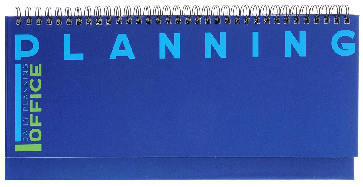 Listoff Планинг Офисный стиль недатированный 56 листов цвет синий