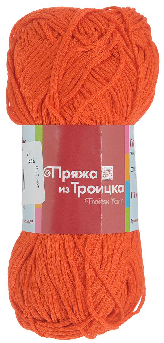 Пряжа для вязания Ландыш, цвет: алый (1446), 115 м, 50 г, 10 шт366131_1446Пряжа Ландыш изготовлена из 100% мерсеризованного хлопка и предназначена для ручного вязания. Пряжа, прошедшая обработку под названием мерсеризация, приобретает блеск, ее легко окрасить в яркие устойчивые цвета. Мерсеризованный хлопок мягкий и шелковистый, он хорошо впитывает влагу. Связанный трикотаж получается легкий, гладкий и красивый. С такой пряжей процесс вязания превратится в настоящее удовольствие, а внешний вид изделий будет привлекать внимание. Рекомендуемый размер спиц: 3 мм. Состав: 100% мерсеризованный хлопок.