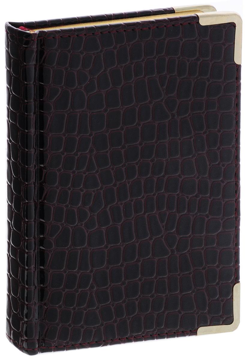 Listoff Записная книжка Iguana 96 листов в клетку цвет темно-бордовый КЗК696119