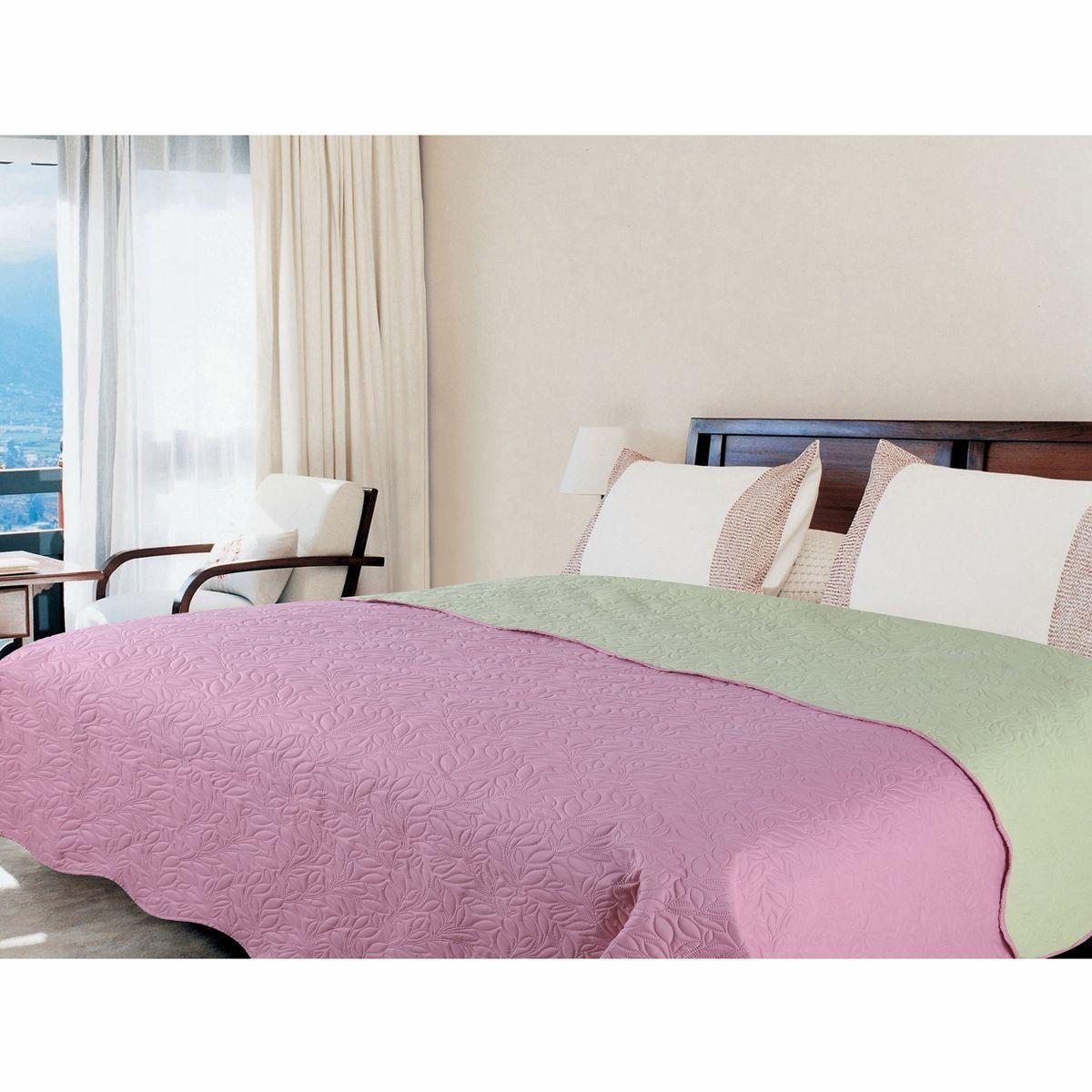 Покрывало Amore Mio Alba, цвет: розовый, зеленый, 160 х 200 см. 7543275432Покрывала Multi Amore Mio - Идеальное Решение для современного интерьера! Amore Mio – Комфорт и Уют - Каждый день! Amore Mio предлагает оценить соотношение цены и качества коллекции. Разнообразие ярких и современных дизайнов прослужат не один год и всегда будут радовать Вас и Ваших близких сочностью красок и красивым рисунком. Покрывало Multi Amore Mio - однотонное, с кантом. Каждая сторона имеет свой цвет, поэтому настроение можно поменять, лишь перевернув покрывало на другую сторону. Покрывало приятное, мягкое, легкое, может послужить не только на кровати, но и в качестве облегченного одеяла, а также как дорожного пледа, великолепно в качестве покрывала для пикников. Занимает мало места, легко стирается, неприхотливо в уходе, приятным бонусом станет низкая цена.