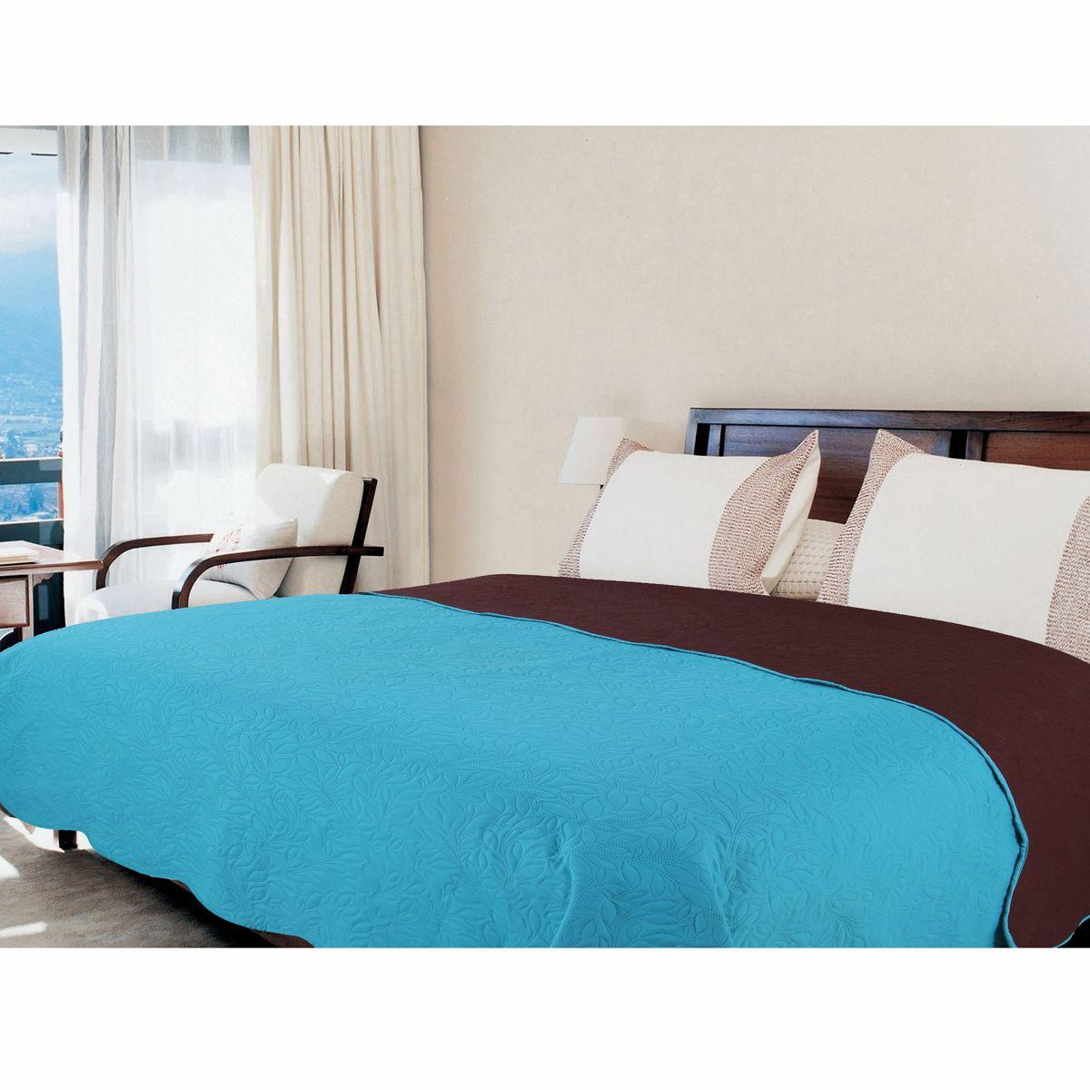 Покрывало Amore Mio Alba, цвет: голубой, коричневый, 200 х 220 см. 7544375443Покрывала Multi Amore Mio - Идеальное Решение для современного интерьера! Amore Mio – Комфорт и Уют - Каждый день! Amore Mio предлагает оценить соотношение цены и качества коллекции. Разнообразие ярких и современных дизайнов прослужат не один год и всегда будут радовать Вас и Ваших близких сочностью красок и красивым рисунком. Покрывало Multi Amore Mio - однотонное, с кантом. Каждая сторона имеет свой цвет, поэтому настроение можно поменять, лишь перевернув покрывало на другую сторону. Покрывало приятное, мягкое, легкое, может послужить не только на кровати, но и в качестве облегченного одеяла, а также как дорожного пледа, великолепно в качестве покрывала для пикников. Занимает мало места, легко стирается, неприхотливо в уходе, приятным бонусом станет низкая цена.