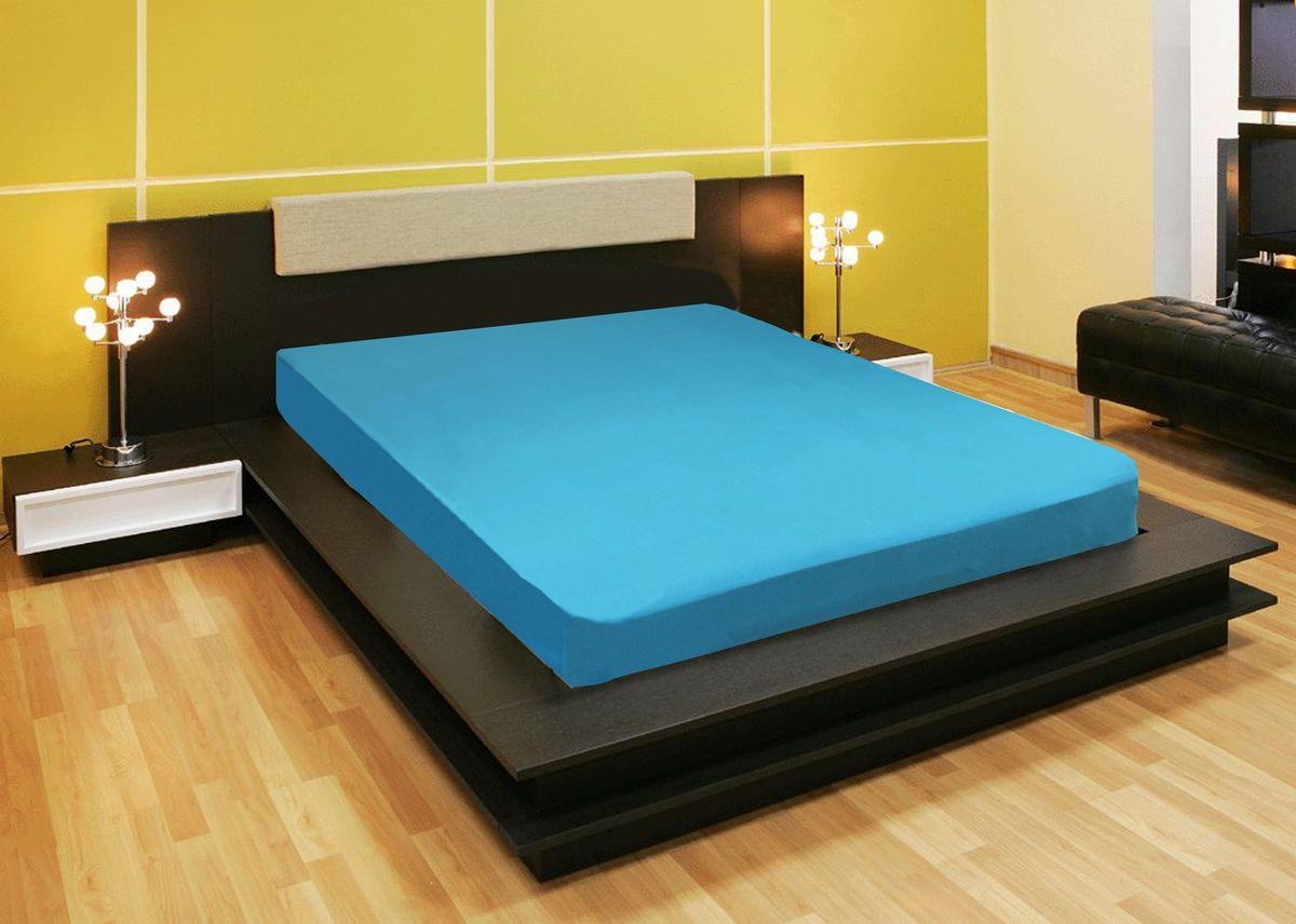Простыня Amore Mio, цвет: голубой, 200 x 200 см78140Компания Текстиль Репаблик , уже более 20-ти лет успешно работающая на Российском рынке текстильных товаров для дома, предлагает трикотажные простыни на резинке Amore Mio . Продукты торговой марки Amore Mio зарекомендовали себя исключительно с самой лучшей стороны: сочетающие в себе высокое качество, экологичность, отличные потребительские свойства со сдержанным уровнем цен. Трикотажная простыня на резинке - это уникальный товар, великолепная находка для дома, поскольку сочетает в себе универсальность и удобство. Она легко и ровно фиксируется на поверхности спального места, без замятых или скомканных областей и не съезжает во время сна. Помимо классической функции простыни она исполняет роль защитного чехла для вашего матраца . Трикотажные простыни на резинке Amore Mio произведены из качественной 100% хлопковой кулирки. Они обладают высокими тактильными характеристиками, замечательно отводят излишнюю влагу, хорошо пропускают воздух, не нуждаются в глажке, не...