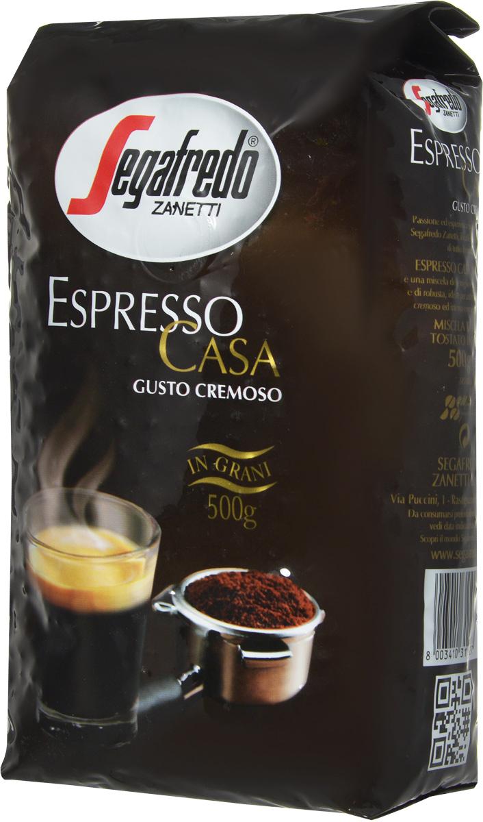 Segafredo Espresso Casa кофе в зернах, 500 г401.001.008Кофе Segafredo Espresso Casa создан профессионалами кофе, которые подготовили сбалансированную смесь высшего сорта Арабики и Робусты, придающую напитку насыщенный сливочный вкус и интенсивный аромат. В точности как эспрессо из настоящей итальянской кофейни.