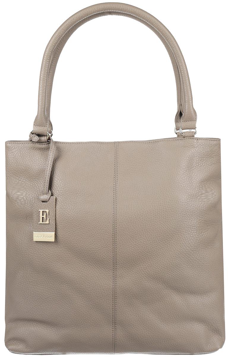 Сумка женская Eleganzza, цвет: серо-коричневый. ZZ-NX801ZZ-NX801Оригинальная женская сумка торговой марки Eleganzza выполнена из натуральной кожи зернистой фактуры и застегивается на магнит. Сумка состоит из одного вместительного отделения, разделенного карманом-средником на молнии. Сумка содержит два нашивных кармана для мелочей и мобильного телефона, врезной карман на пластиковой застежке-молнии. На задней стенке предусмотрен врезной карман на молнии. Модель оснащена удобными ручками, благодаря этому сумку можно носить как в руке, так и на плече. Дно сумки дополнено металлическими ножками, которые защищают изделие от повреждений. Изделие декорировано фирменным брелоком логотипа бренда. Прилагается фирменный текстильный чехол для хранения. Стильная сумка позволит вам подчеркнуть свою индивидуальность и сделает ваш образ завершенным.
