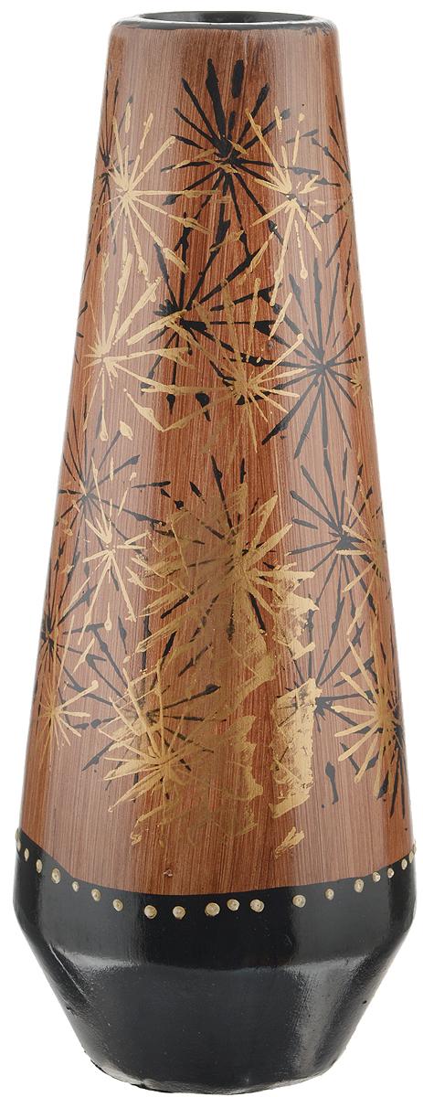 Ваза Sima-land Одуванчик, высота 26,5 см912907Элегантная ваза Sima-land Одуванчик, изготовленная из высококачественной керамики, оформлена в благородных древесных оттенках с ярким рисунком. Интересная форма и необычное оформление сделают эту вазу замечательным украшением интерьера. Она предназначена как для живых, так и для искусственных цветов. Любое помещение выглядит незавершенным без правильно расположенных предметов интерьера. Они помогают создать уют, расставить акценты, подчеркнуть достоинства или скрыть недостатки.