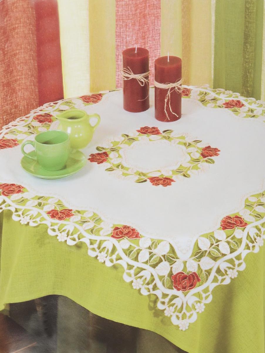 Скатерть Zlata Korunka, квадратная, 85 х 85 смDR8115_молочный, розовыйВеликолепная квадратная скатерть Zlata Korunka, выполненная из 100% полиэстера, органично впишется в интерьер любого помещения, а оригинальный дизайн удовлетворит даже самый изысканный вкус. Она создаст праздничное настроение и станет прекрасным дополнением интерьера гостиной, кухни или столовой.