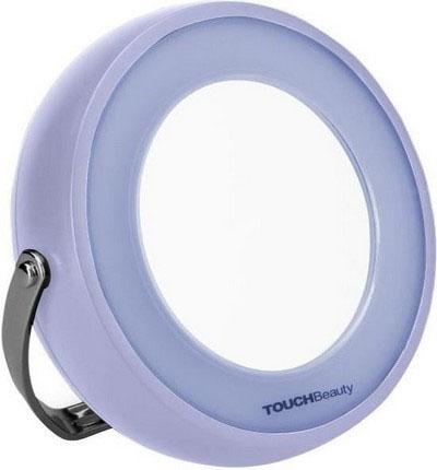 Зеркало с подсветкой Touchbeauty AS-0829AS-0829Двустороннее зеркало с подсветкой, одна сторона с 5-ти кратным увеличением. LED-подсветка делает его простым в использовании в ночное время или в темноте. 360° поворотная рамка свободно регулирует зеркало под любым углом, и есть возможность повесить зеркало на стену. Питание батарейки от 3 ААА.