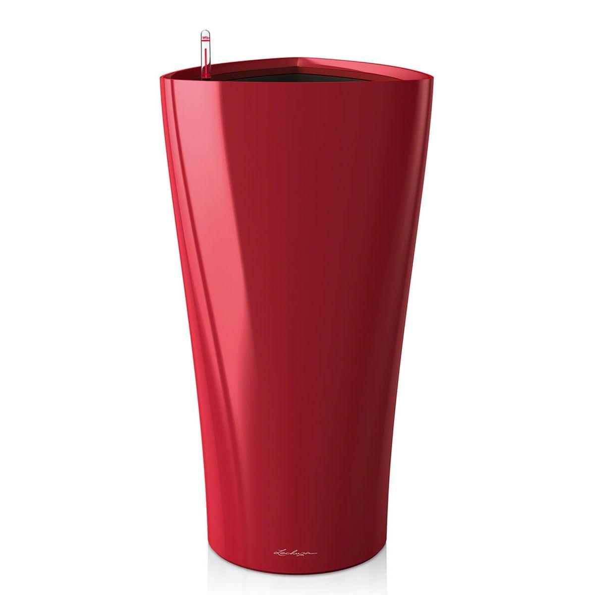 Кашпо Lechuza Delta, с системой автополива, цвет: красный, 40 х 40 х 75 см15559Кашпо Lechuza Delta, выполненное из высококачественного пластика, имеет уникальную систему автополива, благодаря которой корневая система растения непрерывно снабжается влагой из резервуара. Уровень воды в резервуаре контролируется с помощью специального индикатора. В зависимости от размера кашпо и растения воды хватает на 2-12 недель. Это способствует хорошему росту цветов и предотвращает переувлажнение. В набор входит: кашпо, внутренний горшок, индикатор уровня воды, резервуар для воды. Внутренний горшок, оснащенный выдвижными ручками, обеспечивает: - легкую переноску даже высоких растений; - легкую смену растений; - можно также просто убрать растения на зиму; - винт в днище позволяет стечь излишней дождевой воде наружу. Кашпо Lechuza Delta прекрасно впишется в интерьер больших холлов, террас ресторанов и уютных гостиных. Изделие поможет расставить нужные акценты и придаст помещению вид, соответствующий вашим...