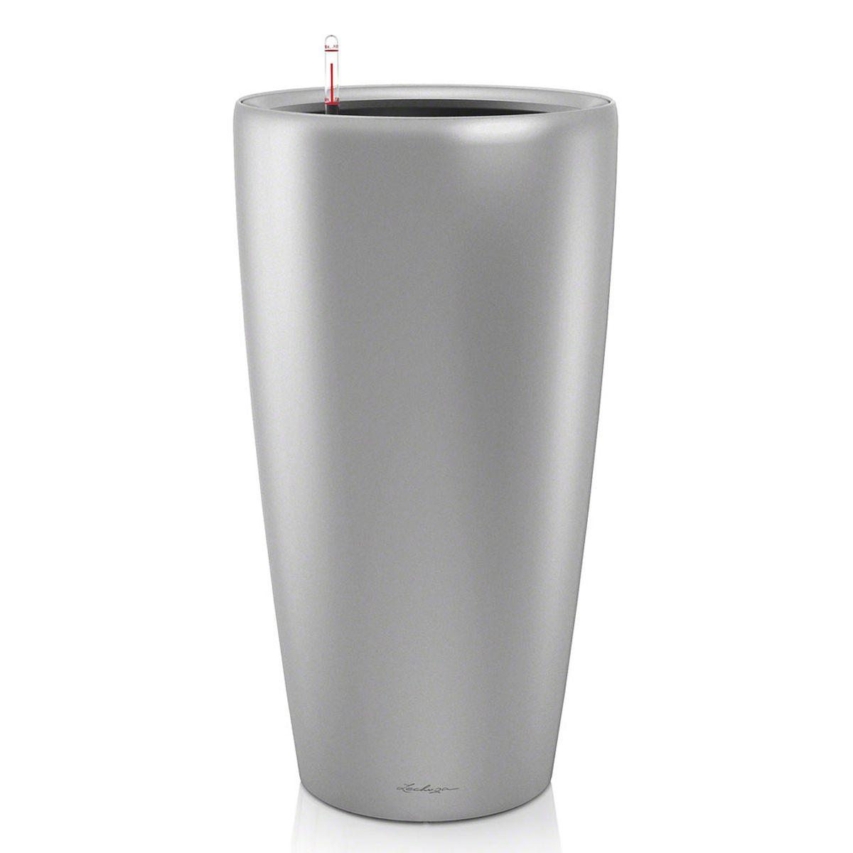Кашпо с автополивом Lechuza Rondo 40х75 см, серебро15748Изящная форма кашпо RONDO является одновременно элегантной и несложной, и позволяет представить в выгодном свете любое растение. Сочетание кашпо с моделями CLASSICO идеально дополняет общую картину. Особые преимущества: - Всегда элегантный дизайн кашпо, соответствующий серии CLASSICO - Совершенная форма кашпо, для самых разных растений и позиций Внутренний горшок с выдвижными ручками обеспечивает: - Легкую переноску даже высоких растений - Легкую смену растений