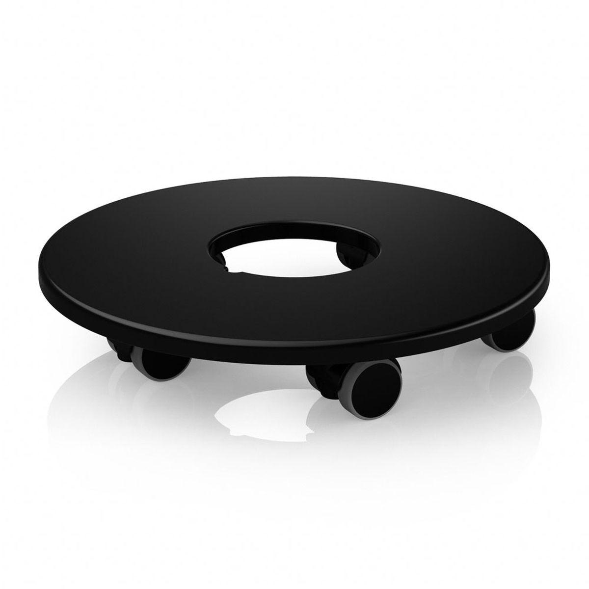 Подставка Lechuza для кашпо диаметром 50 см, на колесах, цвет: черный13403Подставка Lechuza, выполненная из высококачественного пластика, оснащена колесами. Изделие предназначено для кашпо из серий Classico и Quadro. Подставка обеспечивает объемным и тяжелым кашпо мобильность во всех направлениях. С помощью такой передвижной подставки, вы сможете озеленить любой уголок в доме, офисе, на даче или любых общественных местах. Диаметр подставки: 30 см. Подходит для кашпо диаметром 50 см.