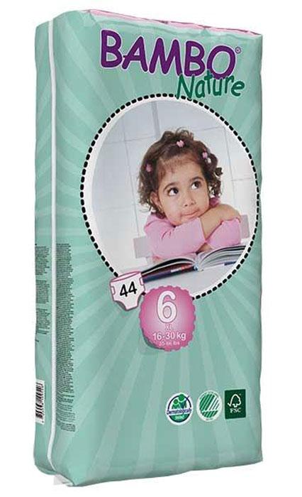 Bambo Nature Подгузники 16-30 кг размер XL Plus 44 шт310146Подгузники Bambo Nature 44 XL- Plus (tall bag), 16-30 kg - ЭКО-подгузники для детей - гарантия минимального воздействия на кожу ребёнка и окружающую среду.Подгузники без ароматизации. Дераматологически тестированы. Материалы отвечают экологическим критериям.
