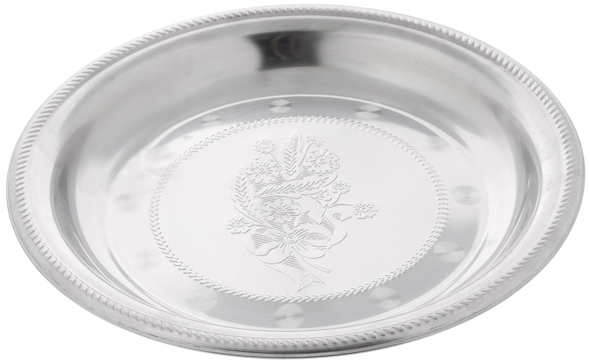 Блюдо для фруктов Mayer & Boch, диаметр 40 см22719Блюдо для фруктов Mayer & Boch круглой формы выполнено из стали с серебряно-никелевым покрытием. Блюдо с зеркальной поверхностью по краям оформлено изящным рисунком. Оно отлично подойдет для красивой сервировки различных блюд, закусок и фруктов на праздничном столе. Изящный дизайн придется по вкусу и ценителям классики, и тем, кто предпочитает утонченность и изысканность. Блюдо для фруктов Mayer & Boch станет отличным подарком на любой праздник. Диаметр блюда: 40 см. Высота блюда: 4 см.