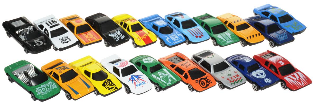 Plastic Toy Набор машинок City RacerG100-H36061Набор машинок Plastic Toy City Racer понравится любому мальчику. В набор входит 20 спортивных и гоночных автомобилей. Каждая машинка имеет индивидуальную форму и раскраску. Машинки изготовлены из качественных и безопасных материалов. Имея такой автопарк, можно устраивать соревнования и гонки с друзьями. Благодаря разнообразию моделей и цветов скучать будет некогда.