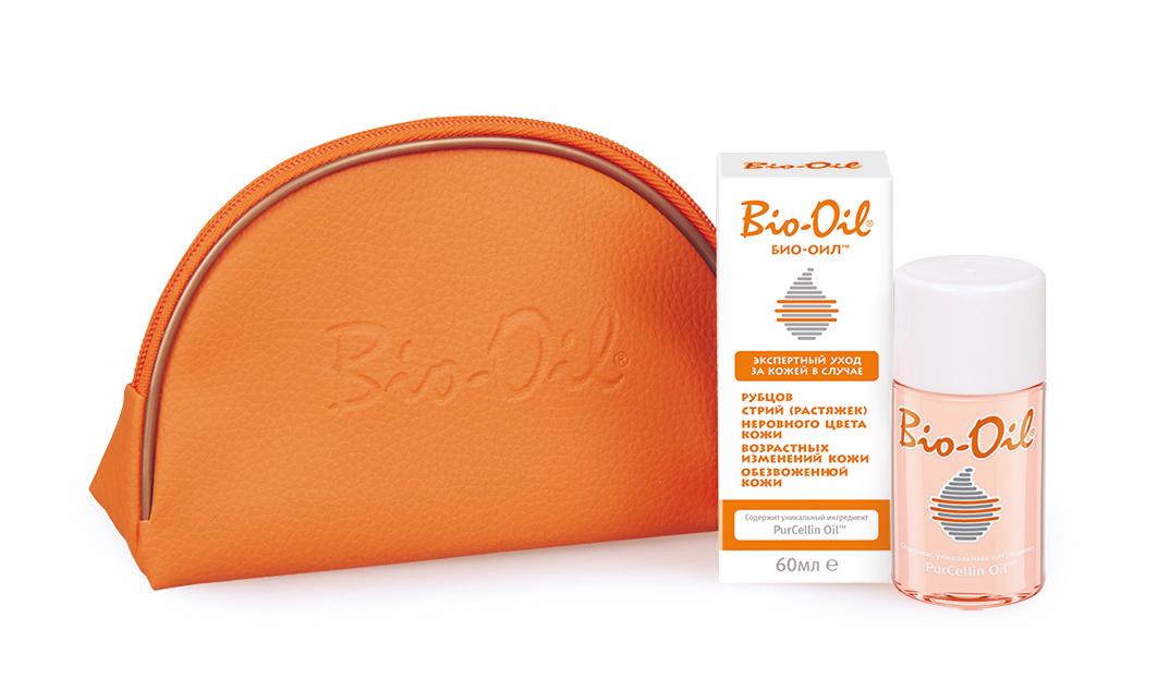 Bio Oil Масло косметическое от шрамов растяжек неровного тона 60 мл с косметичкой46100115