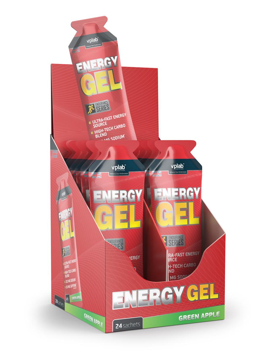 Энергетик VPLab Energy Gel + кофеин 41г зеленое яблоко ( 1622042 )