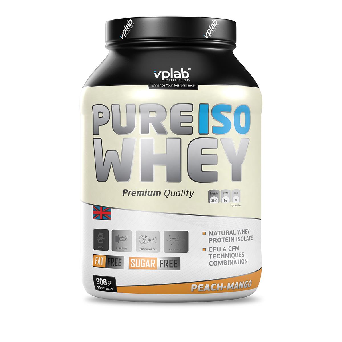 Протеин VP Pure Iso Whey 908г персик-манго