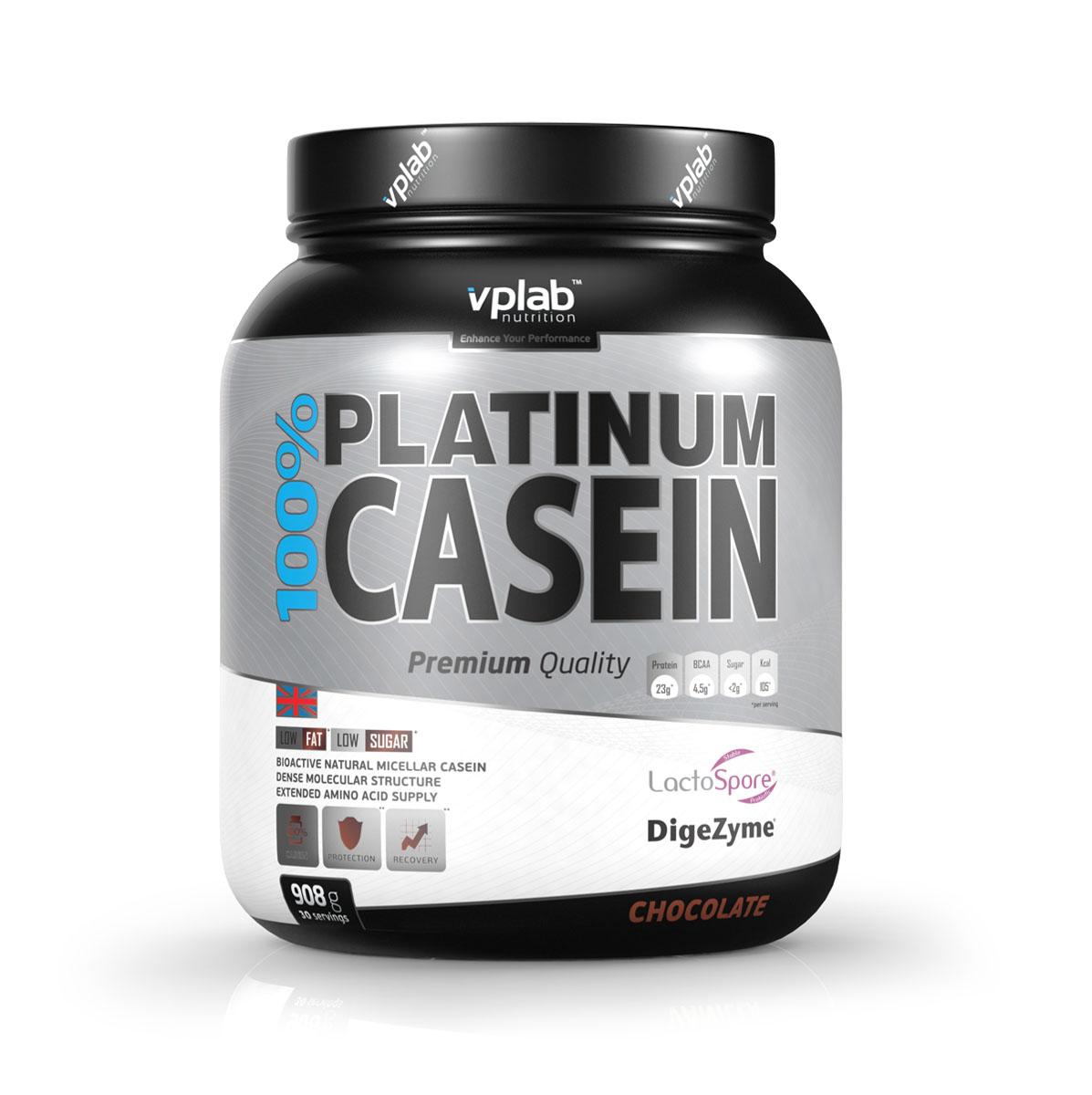 Протеин 100% Platinum Casein 908г шоколад