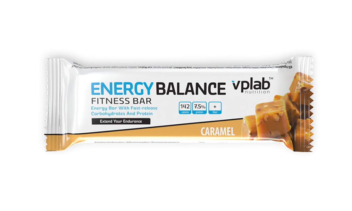Энергетический батончик VPLab Energy Balance fitness Bar 35г карамель ( 51468 )