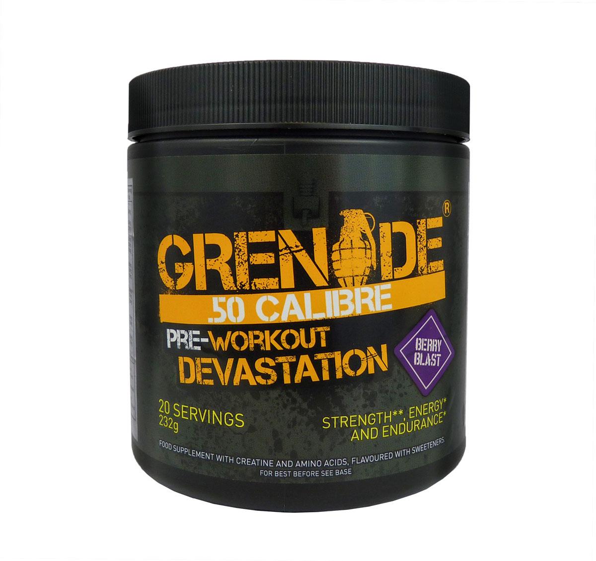 Предтренировочный комплекс Grenade 50 Калибр / 20порций - 232г / ягода ( GRE080 )