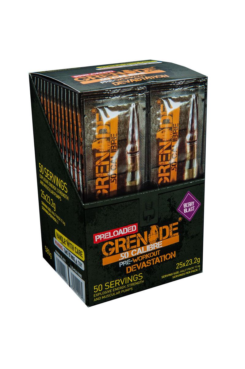 Предтренировочный комплекс Grenade Пре Лоадед 50 Калибр / 25x23,2 г / ягода ( GRE097 )