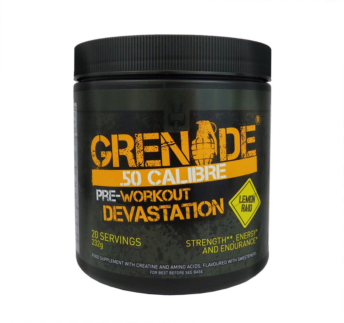 Предтренировочный комплекс Grenade 50 Калибр / 20порций - 232 г/ лимон ( GRE127 )