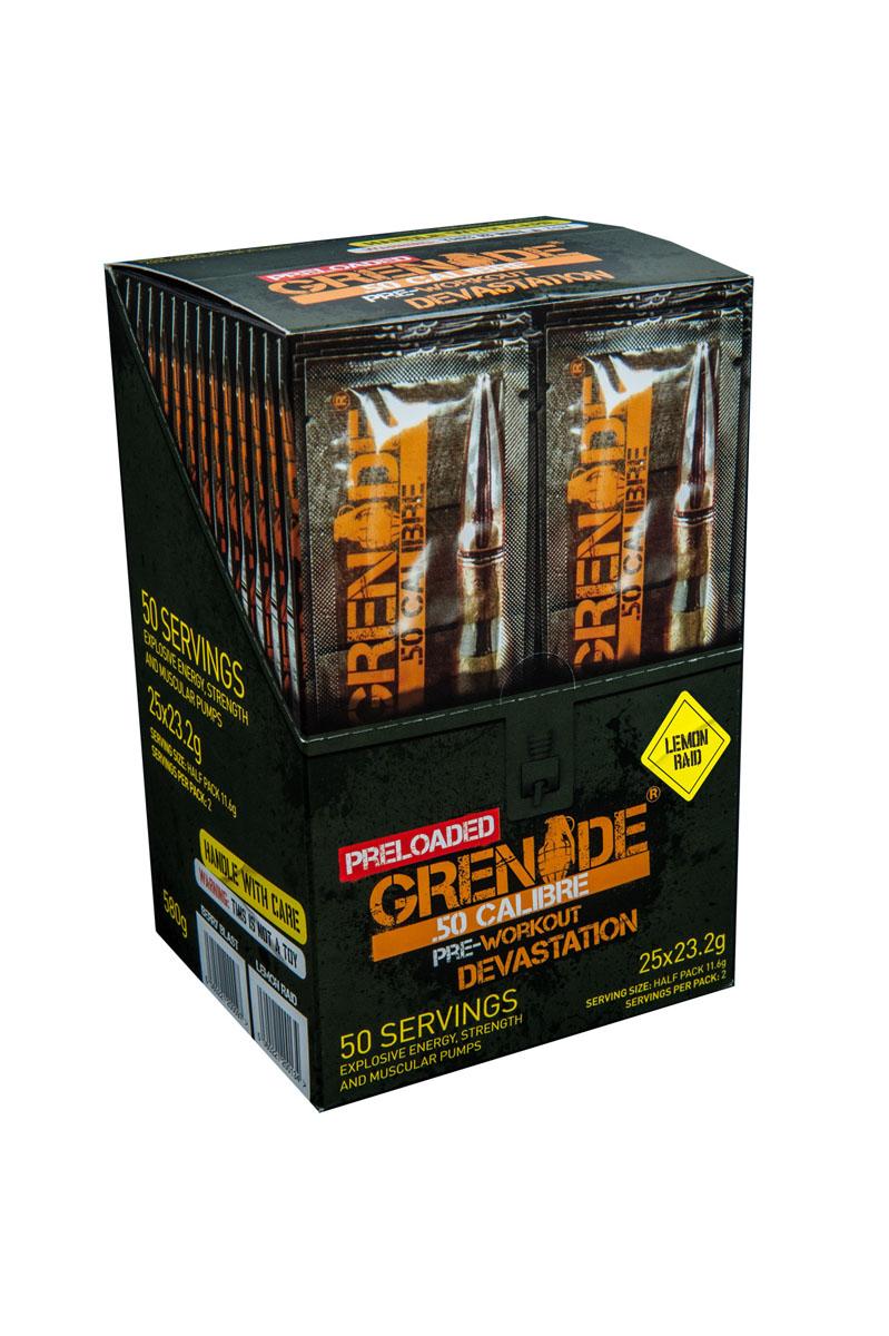 Предтренировочный комплекс Grenade Пре Лоадед 50 Калибр / 25x23,2 г /лимон ( GRE134 )