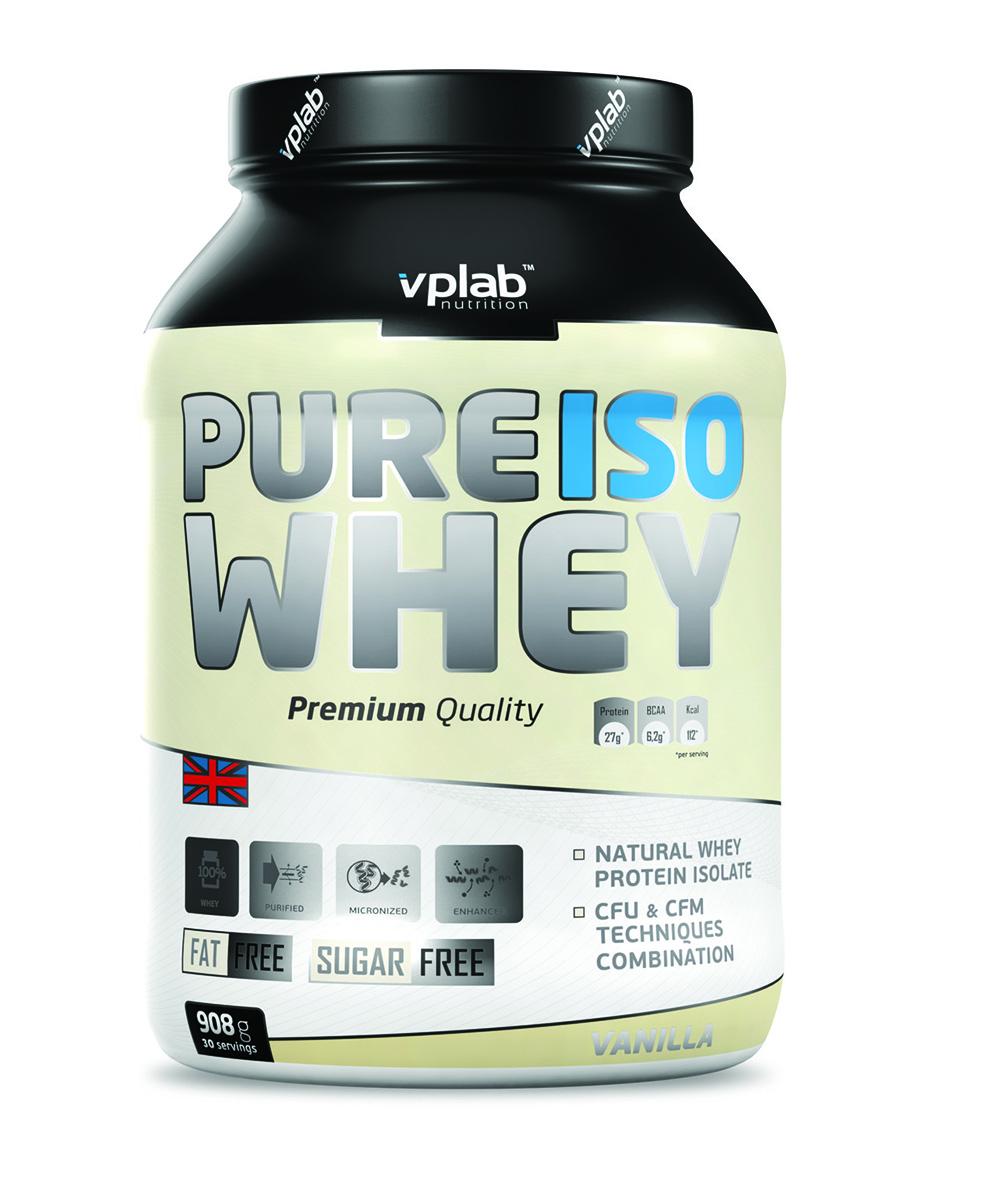 Протеин VP Pure Iso Whey 908г ванильV5218Pure Iso Whey - сывороточный изолят с наивысшим содержанием протеина (более 90 % в сухом веществе) подвергается наиболее тщательной очистке и является идеальным строительным материалом для мышц, при этом максимально ускоряя процесс восстановления. Изготовлен при уникальной комбинации методов перекрестной ультрафильтрации (CFU) и перекрестной микрофильтрации (CFM). Такая технология позволяет получить самый чистый и легкоусваиваемый протеин с максимально низким содержанием жиров и углеводов, сохраняя высокое содержание незаменимых аминокислот и ВСАА. Рекомендации по применению: 1 порция в день. В дни тренировок желательно употреблять после тренировки. Рекомендации по приготовлению: Смешать 30 г порошка (2 мерные ложки) с 200 мл воды.