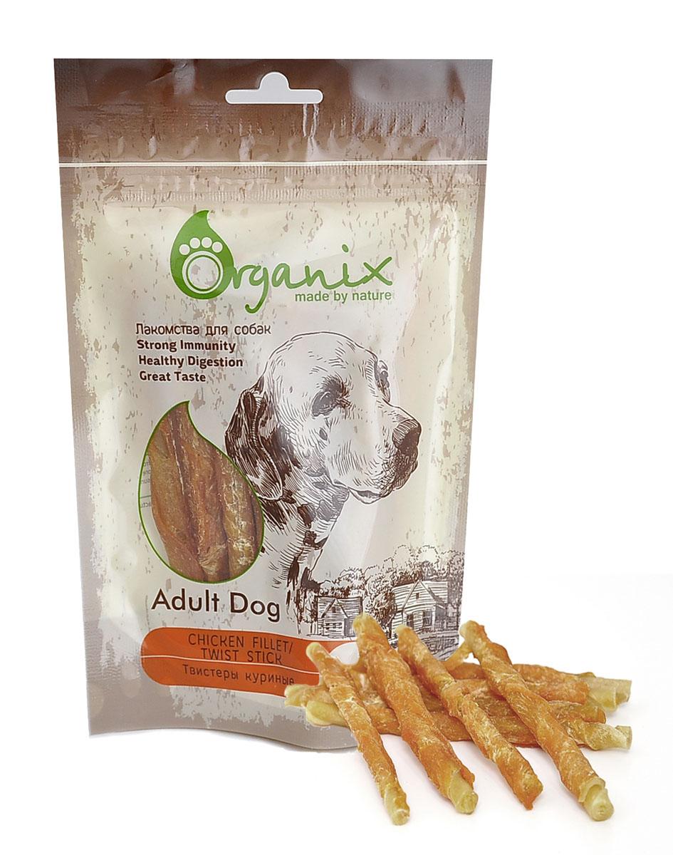 Лакомство для собак Твистеры куриные (Chicken fillet/ twist stick) 100 гр19275Состав: куриное филе, глицерин, сыромятная кожа. Пищевая ценность: белки 65%, жиры 1%, клетчатка 2%, зола 4%,влажность 20%.