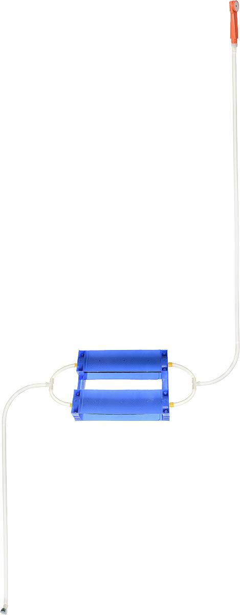 Душ портативный Восход-ЛТД Дачник, цвет: синий, желтый, оранжевый7032753_синийПереносной портативный душ Дачник, выполненный из высококачественного пластика, ПВХ и резины, предназначен для принятия водных процедур в условиях отсутствия водопровода: на участках частных домов, дач, в деревенских банях. Душ состоит из 2-х секционного насоса с корпусом, всасывающего шланга и шланга с лейкой. Особенности: - при хранении и эксплуатации не допускается перегиба шлангов; - рекомендуется хранение душа при комнатной температуре. Размер насоса (с учетом корпуса): 43 х 7 х 7 см. Длина всасывающего шланга: 153 см. Длина шланга (без учета лейки): 198 см. Длина лейки: 17 см.