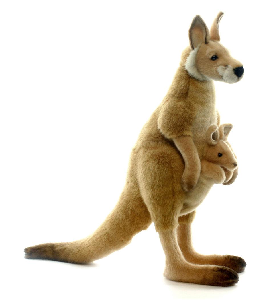 Hansa Toys Мягкая игрушка Большой рыжий кенгуру3642