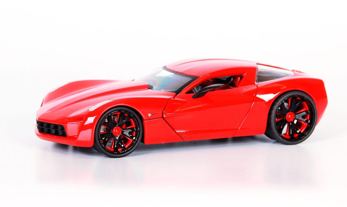 Jada Diecast Модель автомобиля 2009 Corvette Stingray цвет красный96730R