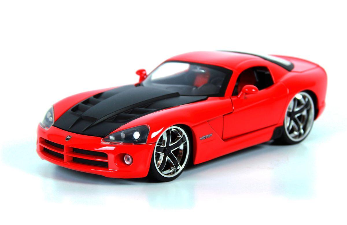 Jada Diecast Модель автомобиля 2008 Dodge Viper SRT/10 Ribbon 5 цвет красный96805R