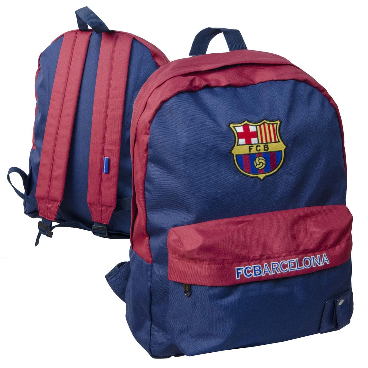 Рюкзак спортивный FC Barcelona, цвет: сине-гранатовый, 18 л. 18923
