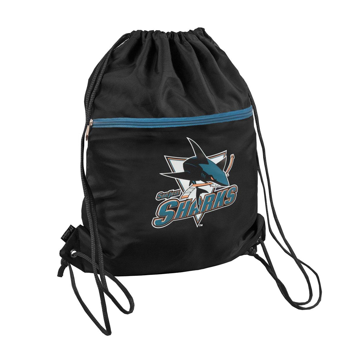 Мешок на шнурке NHL SJ Sharks, цвет: черный. 4л ( 58039 )