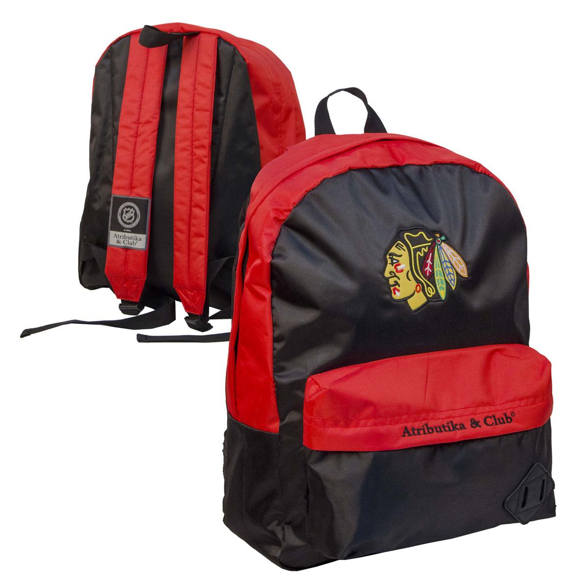 Рюкзак спортивный NHL Blackhawks, цвет: черно-красный, 18 л. 58040 ( 58040 )