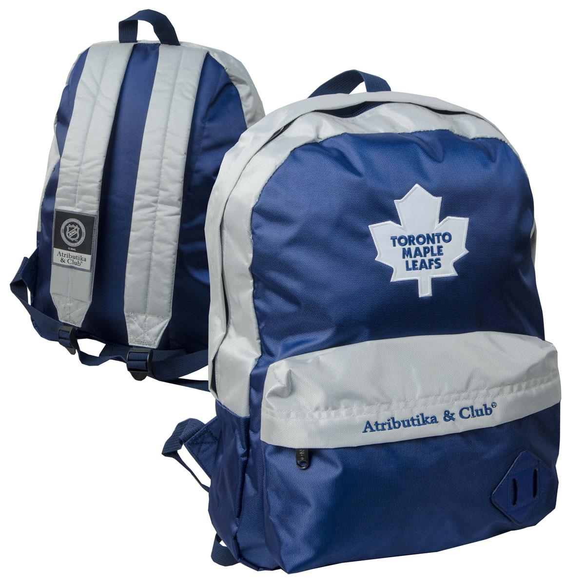 Рюкзак спортивный NHL Maple Leafs, цвет: сине-серый, 18 л. 58041 ( 58041 )