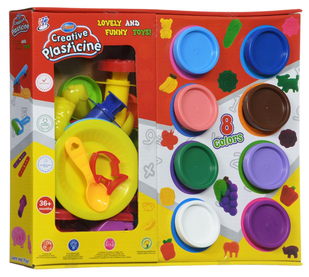 Bradex Набор для творчества Креативный пластилинDE 0124Набор для творчества с формочками Bradex Креативный пластилин - это замечательный набор для игр и творчества, который не оставит равнодушным вашего ребенка. Большое разнообразие формочек и аксессуаров, входящих в набор, открывают безграничный простор для фантазии: можно слепить яркие фрукты или забавных зверюшек, делать цветные штампы или создавать новые цвета, смешивая идущие в наборе. Широкий выбор уникальных инструментов для моделирования, штамповки и выдавливания пластилина позволит создать разнообразные фигурки, которые можно красиво украсить. Креативный пластилин не липнет к рукам и поверхностям, легко собирается обратно в банку и быстро застывает. В наборе 8 баночек пластилина, формочки и инструменты для лепки. Уважаемые клиенты! Обращаем ваше внимание на цветовой ассортимент товара. Поставка осуществляется в зависимости от наличия на складе.