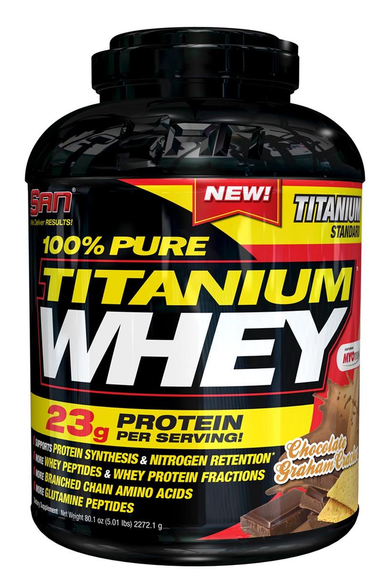 "������� SAN ""100% Pure Titanium Whey"", ���������� ���������� �������, 2240 �"