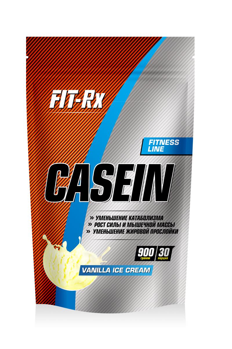 Протеин FIT-RX Casein, пломбир, 900 г00812FIT-RX Casein - это мицелярный казеиновый белок высочайшей фильтрации. Основными источниками белка казеина являются творог и сыр. Данный вид протеина отличается наиболее длительным периодом расщепления до аминокислот в кишечнике, благодаря чему последние на протяжении долгого времени - до 6-ти часов поступают в кровоток и оттуда попадают в нуждающиеся в них мышцы. Наравне с полноценным аминокислотным составом, именно длительность расщепления обуславливает преимущество казеина перед другими видами протеинов. В повседневной жизни мы не всегда можем гарантировать себе регулярное, дробное питание без значительных перерывов, а полноценный мышечных рост нуждается в непрерывном потоке строительного материала - аминокислот. Отличие мицелярного казеина от других его видов заключается в особой структуре. В мицелярном казеине белковые молекулы представлены в виде шариков, так называемых мицелл, что затрудняет взаимодействие с ними пищеварительных ферментов и еще более увеличивает время...