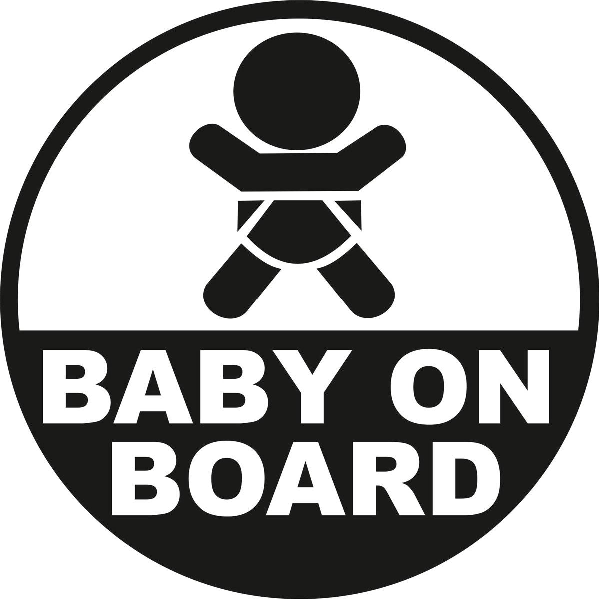 Наклейка автомобильная Оранжевый слоник Baby on Board. Круг, виниловая, цвет: черный150RM0007BОригинальная наклейка Оранжевый слоник Baby on Board. Круг изготовлена из долговечного винила, который выполняет не только декоративную функцию, но и защищает кузов от небольших механических повреждений, либо скрывает уже существующие. Виниловые наклейки на авто - это не только красиво, но еще и быстро! Всего за несколько минут вы можете полностью преобразить свой автомобиль, сделать его ярким, необычным, особенным и неповторимым!