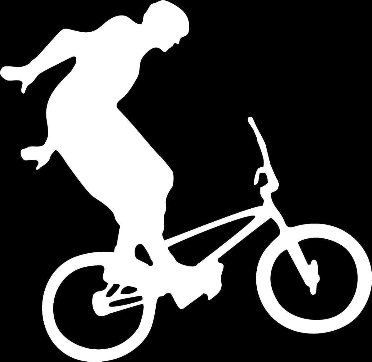 Наклейка автомобильная Оранжевый слоник Велосипедист 3, виниловая, цвет: белый150SP00016WОригинальная наклейка Оранжевый слоник Велосипедист 3 изготовлена из высококачественной виниловой пленки, которая выполняет не только декоративную функцию, но и защищает кузов автомобиля от небольших механических повреждений, либо скрывает уже существующие. Виниловые наклейки на автомобиль - это не только красиво, но еще и быстро! Всего за несколько минут вы можете полностью преобразить свой автомобиль, сделать его ярким, необычным, особенным и неповторимым!