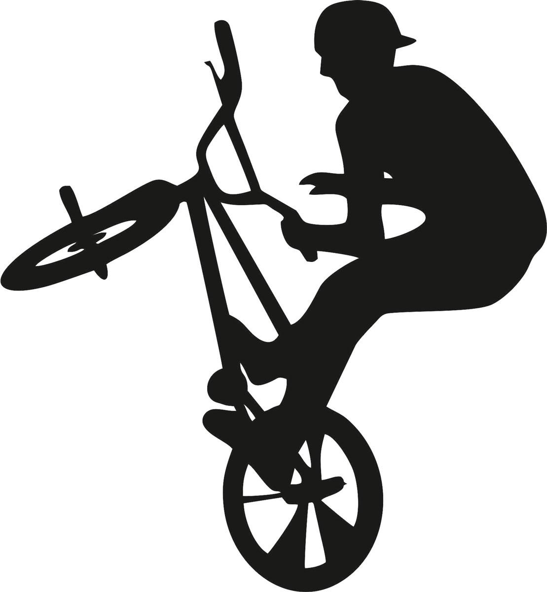 Наклейка автомобильная Оранжевый слоник Велосипедист, виниловая, цвет: черный150SP00029BОригинальная наклейка Оранжевый слоник Велосипедист изготовлена из высококачественной виниловой пленки, которая выполняет не только декоративную функцию, но и защищает кузов автомобиля от небольших механических повреждений, либо скрывает уже существующие. Виниловые наклейки на автомобиль - это не только красиво, но еще и быстро! Всего за несколько минут вы можете полностью преобразить свой автомобиль, сделать его ярким, необычным, особенным и неповторимым!