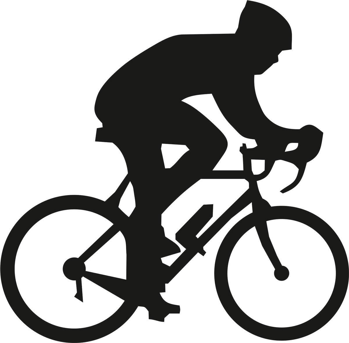 Наклейка автомобильная Оранжевый слоник Велосипедист 1, виниловая, цвет: черный150SP0003BОригинальная наклейка Оранжевый слоник Велосипедист 1 изготовлена из высококачественного винила, который выполняет не только декоративную функцию, но и защищает кузов от небольших механических повреждений, либо скрывает уже существующие. Виниловые наклейки на авто - это не только красиво, но еще и быстро! Всего за несколько минут вы можете полностью преобразить свой автомобиль, сделать его ярким, необычным, особенным и неповторимым!