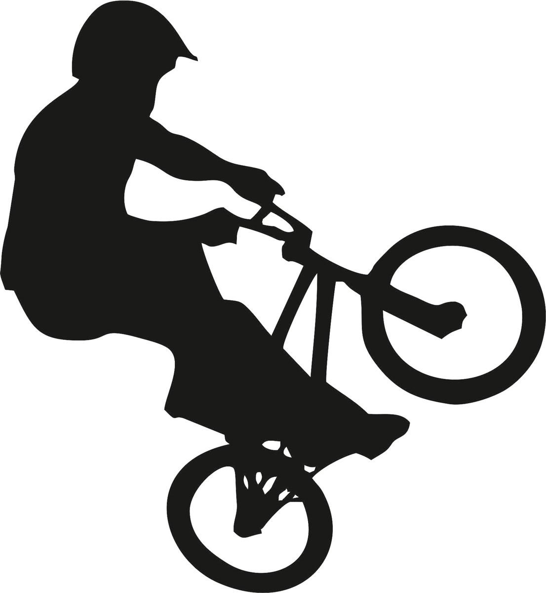 Наклейка автомобильная Оранжевый слоник Велосипед, виниловая, цвет: черный150SP00042BОригинальная наклейка Оранжевый слоник Велосипед изготовлена из высококачественной виниловой пленки, которая выполняет не только декоративную функцию, но и защищает кузов автомобиля от небольших механических повреждений, либо скрывает уже существующие. Виниловые наклейки на автомобиль - это не только красиво, но еще и быстро! Всего за несколько минут вы можете полностью преобразить свой автомобиль, сделать его ярким, необычным, особенным и неповторимым!