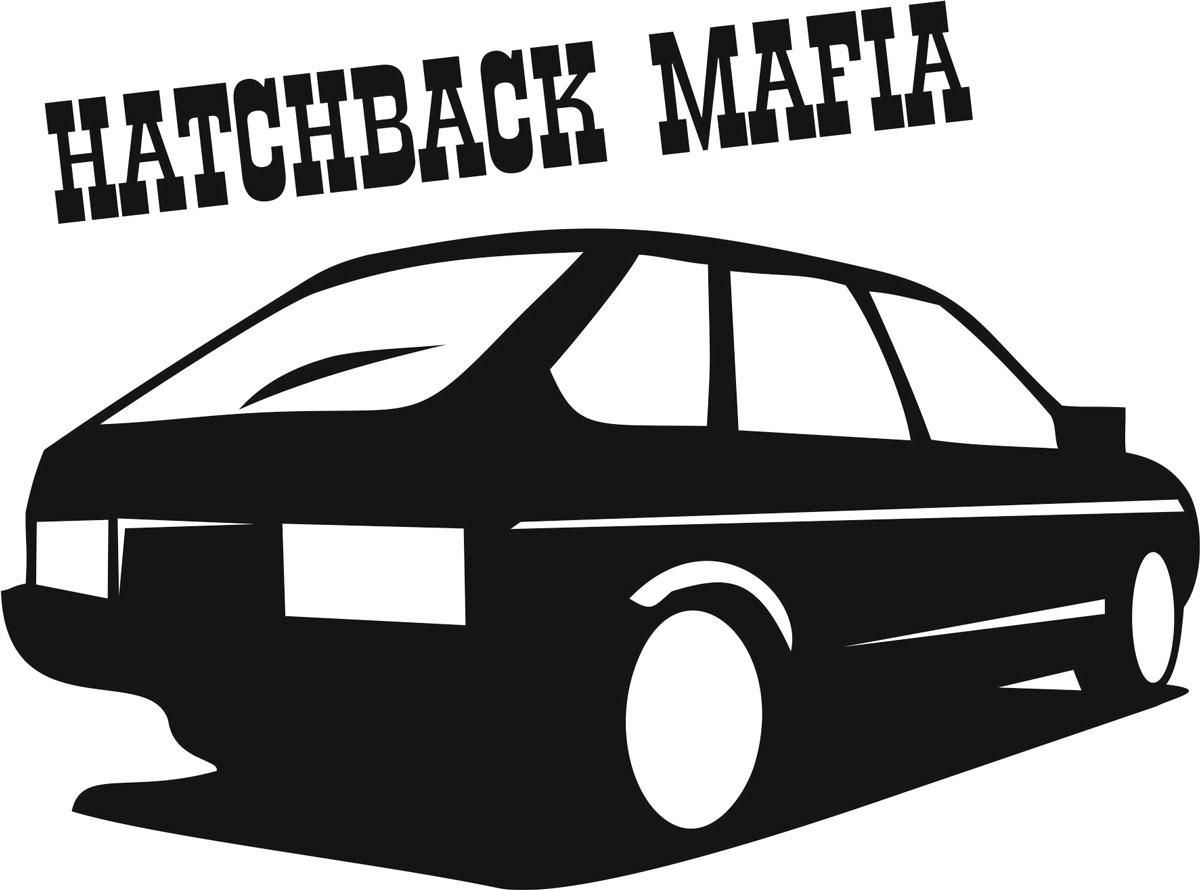 Наклейка автомобильная Оранжевый слоник Hatchback Mafia, виниловая, цвет: черный150TM00014BОригинальная наклейка Оранжевый слоник Hatchback Mafia изготовлена из высококачественной виниловой пленки, которая выполняет не только декоративную функцию, но и защищает кузов автомобиля от небольших механических повреждений, либо скрывает уже существующие. Виниловые наклейки на автомобиль - это не только красиво, но еще и быстро! Всего за несколько минут вы можете полностью преобразить свой автомобиль, сделать его ярким, необычным, особенным и неповторимым!