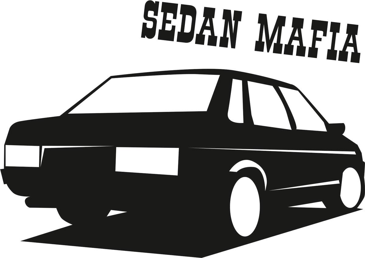 Наклейка автомобильная Оранжевый слоник Sedan Mafia, виниловая, цвет: черный150TM0002BОригинальная наклейка Оранжевый слоник Sedan Mafia изготовлена из высококачественной виниловой пленки, которая выполняет не только декоративную функцию, но и защищает кузов автомобиля от небольших механических повреждений, либо скрывает уже существующие. Виниловые наклейки на автомобиль - это не только красиво, но еще и быстро! Всего за несколько минут вы можете полностью преобразить свой автомобиль, сделать его ярким, необычным, особенным и неповторимым!