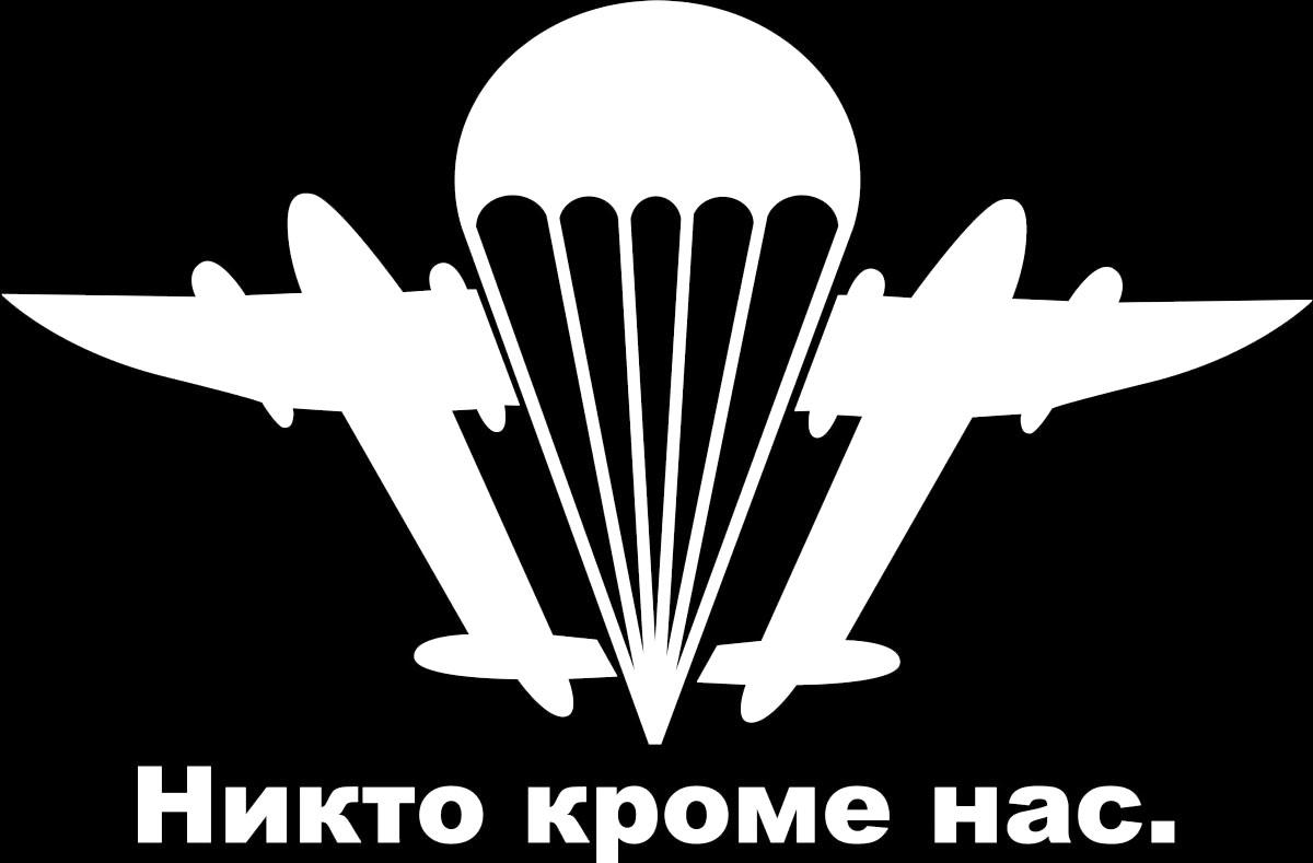 Виниловая наклейка ВДВ_1, цвет: белый